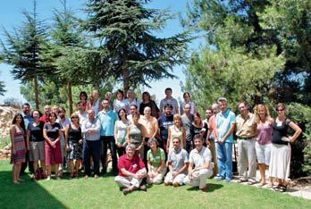 Group of Spanish teachers attending the training seminar at Yad Vashem (August 2007).